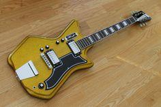 Eastwood Guitars Airline '59 Custom 2P Gold Metal Flake LTD Edition