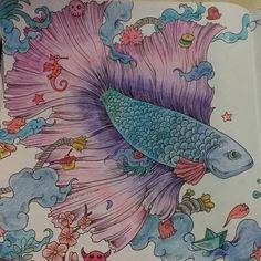 From Legendary Worlds Adult Coloring Book Coloured By Mary Taylor Lee