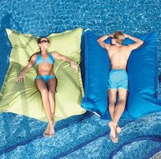 Pool Pillows...i would sleep on them foreverrrr..