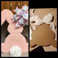 Bunny Crafts, Easter Crafts, Hoppy Easter, Easter Bunny, Holiday Crafts For Kids, Easter Projects, Diy Easter Decorations, Dollar Store Crafts, Easter Wreaths