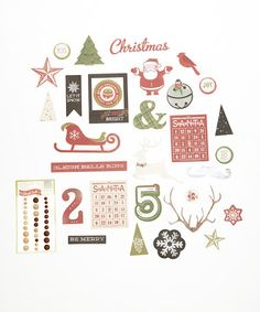 This Sleigh Bells Ring Die-Cut Shape & Dot Set by My Mind's Eye is perfect! #zulilyfinds