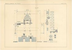 Lifts Antique Technical Drawing Engineering by carambas on Etsy