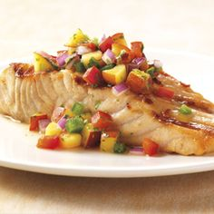 Salmon with Nectarine Salsa