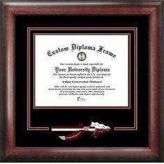 FSU Florida State University Matted Diploma with Mahogany Frame