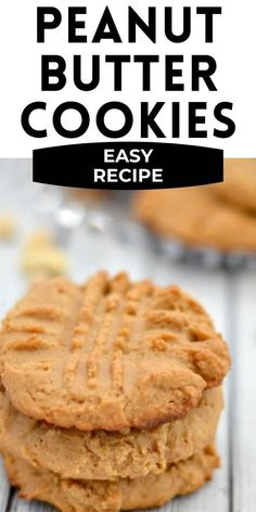 These Peanut Butter Cookiesare made with honey instead of refined sugar for a wonderful healthier version. They are quick to make in less than 20 minutes! Easy Peanut Butter Cookies, Honey Cookies, Yummy Cookies, Sugar Cookies, Easy No Bake Desserts, Easy Desserts, Delicious Desserts, Cookie Recipes, Dessert Recipes