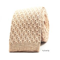 Knit Light Brown Tie