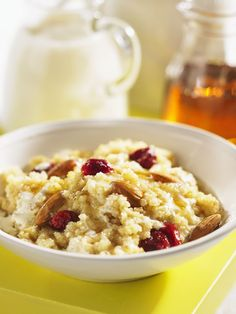 If you're into hot cereal, I highly recommending trying this recipe for Hot Millet and Amaranth Cereal, from The Complete Gluten Free Whole Grain Cookbook by Judith Finlayson, and published . Healthy Sweets, Healthy Breakfast Recipes, Healthy Foods, Vegan Gluten Free, Gluten Free Recipes, Granola Cereal, Raw Vegan, Food Hacks, Good Food