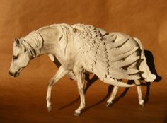 Custom/Cm Fantasy OOAK Shaded Grey and White PEGASUS by PZ14