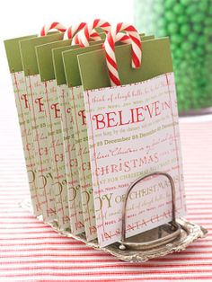 Make little Christmas envelopes out of wrapping paper... http://blog.misa.com.au/15-diy-christmas-ideas-to-inspire-you/