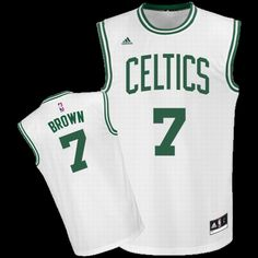 f4037d742 boston celtics 7 jaylen brown white home swingman jersey