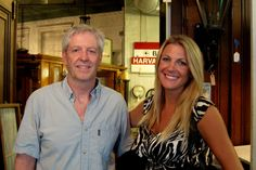 Restoration Resources Owner Bill Raymer Poses with Interior Designer and HGTV's Host of Urban Oasis, Lindsay Pumpa. This is the Second Time Lindsay has Come to Restoration Resources in the Past Two Months to Shop for Decorative Accents and Antique Hardware to Use in the W Boston Apartment That She is Designing for One Lucky Winner!