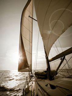 Eazywallz  - Yacht sailing towards sunset Wall Mural, $109.77 (http://www.eazywallz.com/yacht-sailing-towards-sunset-wall-mural/)