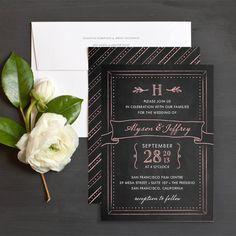Sweet Chalkboard Wedding Invitations by Elli
