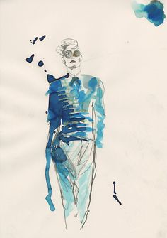 London College of Fashion M.A. A/W 2013 illustrated by Amelie Hegardt
