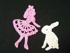 Crochet Alice in Wonderland Applique free Pattern