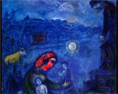 Blue Village - Marc Chagall