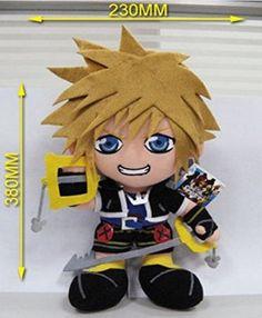 Anime Cute 38cm Kingdom Hearts 2 Sola Key Plush Doll Stuffed Toys Figure Pillow