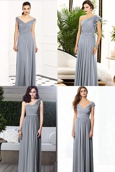Love these! Grey bridesmaid dresses