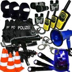 Verleihkiste Polizei SEK: Megafon, Walkies, Westen,Handschellen, 4Tage