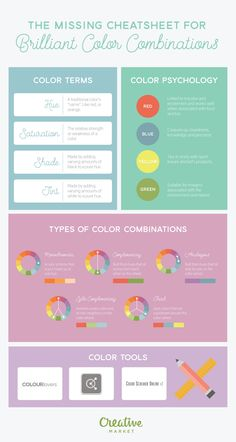 On the Creative Market Blog - The Missing Cheatsheet For Brilliant Color Combinations