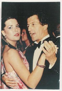 Princess Caroline and Philippe Junot at Maxim's.Paris,1978.