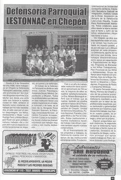 Revista Chepén. 1er.  año de la Defensoría Lestonnac 1997