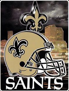 New Orleans Saints NFL Aggression Raschel Plush Twin Size Throw/Blanket New Orleans Saints Logo, New Orleans Saints Football, Nfl Saints, All Saints Day, National Football Teams, Lsu Tigers, Louisiana, Football Helmets, Plush