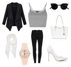 """""""Untitled #28"""" by ada-branescu on Polyvore featuring Topshop, MICHAEL Michael Kors, Calvin Klein and Swatch"""