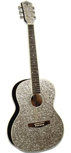 Taylor Swift Style Glitter Sparkle Acoustic Guitar// I want this SO BAD Guitar Fender, Jazz Guitar, Music Guitar, Cool Guitar, Playing Guitar, Ukulele, Learning Guitar, Best Acoustic Guitar, Acoustic Guitars