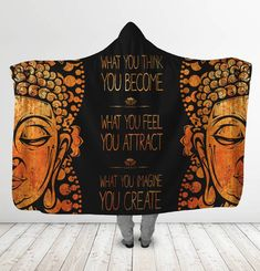 What You Think You Become Spiritual Hooded Blanket - YesWeVibe