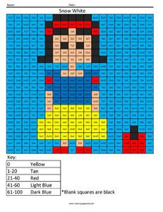 Snow White- Advanced Multiplication Answer Key