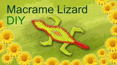 How to Make a Macrame LIZARD - Tutorial