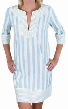 Blue Bohemian - Gretchen Scott Blue Stripe Cotton Tunic Dress, $129.00 (http://www.blue-bohemian.com/gretchen-scott-blue-stripe-cotton-tunic-dress/)