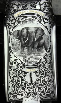 The Engraver's Cafe - The World's Largest Hand Engraving Community - work in progress big five , desing and game scene by jacoby pascal ornament martens
