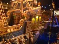 Pirate Ship Deck Backdrop Waist A view of the wa...