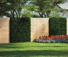 Build Fence & Privacy Protection yourself OBI garden planner- Zaun & Sichtschutz selber bauen Garden Fence Panels, Garden Fencing, Backyard Fences, Backyard Landscaping, Fence Screening, Garden Planner, Backyard Lighting, Fence Design, Amazing Gardens