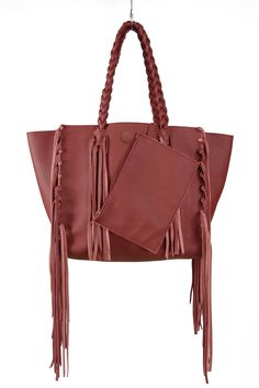 The Meraki Company - Cleo Fringe Tote, $265.00 (http://www.themerakicompany.com/cleo-fringe-tote/) #womens #bags #accessories #tote #fringe #leather