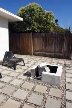 Fire Pit : Cinder block or cement doesn't work.  Metal does.  Oooh, a project for me and Aaron next year.  But I have to check with our HOA if fire pits are allowed in our subdivision.
