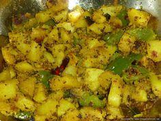Potato and capsicum fry