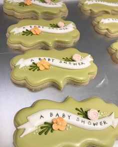 """620 Likes, 23 Comments - Aime Pope (@thepaintedpastry) on Instagram: """"Putting on all the little details . . . . : : . . #decoratedcookies #sugarcookies #dessert #baby…"""""""