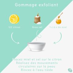 Gommage exfoliant Exfoliating the skin of your body is very important. This removes impurities and dead skin from the epidermis. The purifying lemon combined with the exfoliating effect of coarse salt is therefore ideal for this. Diy Skin Care, Skin Care Tips, Beauty Care, Diy Beauty, Makeup Over 50, How To Lighten Hair, Exfoliating Scrub, Male Grooming, Hair Health
