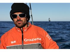Groupama skipper Franck Cammas with PUMA looming behind : thenewsmarket.com