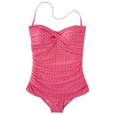 Target : Clean Water Women's Polka Dot 1-Piece Swim Dress -Assorted Colors : Image Zoom