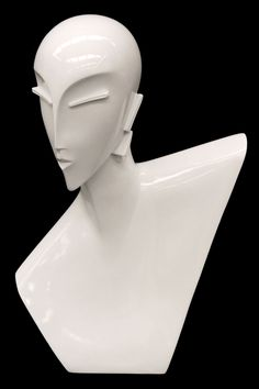 Your BFF will love this Art Deco Female Mannequin Head to display jewelry! $40.00 @ http://www.mannequinmadness.com/art-deco-female-mannequin-head/