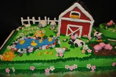 Kinsley and Kamden's Birthday Cake By tntlaurie on CakeCentral.com