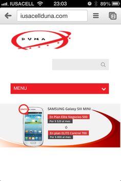 Imagen de sitio responsivo desde su perspectiva mobile.