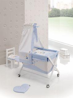 www.noonos.com € 169.95.-  # wieg, #wiege, #crib, #decoratie, #decoration,#inspiratie, #kinderkamer, #babykamer, #kado, #inspiration, #nursery, #babyroom, #childrensroom, # cadeau, #gift, #christmas, #idee, # idea, #babyzimmer, #dekoration, #blauw, # blue, #blau