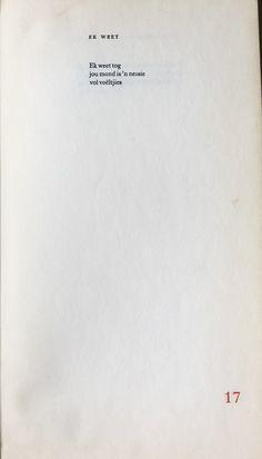 Afrikaanse gedig - Ingrid Jonker, Rook en Oker Rook, Poetry, Poetry Books, Poem, Poems