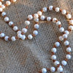 Leather And Pearl Jewelry | necklace is made of freshwater pearls strung on leather this pearl ...