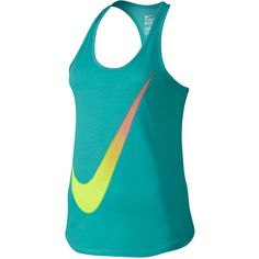 Nike Gradient Swoosh Tank Top Blue ($25) ❤ liked on Polyvore featuring tops, athletic, active wear and nike